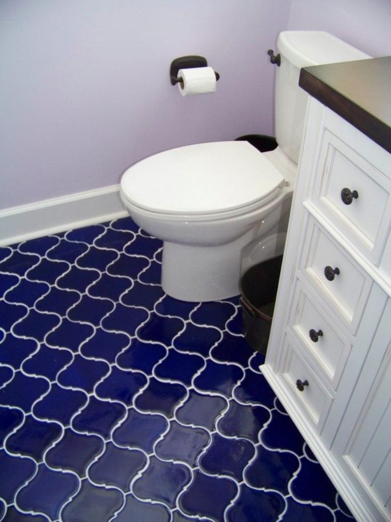 Busby Gilbert Tile, Cobalt Blue Bathroom Tile