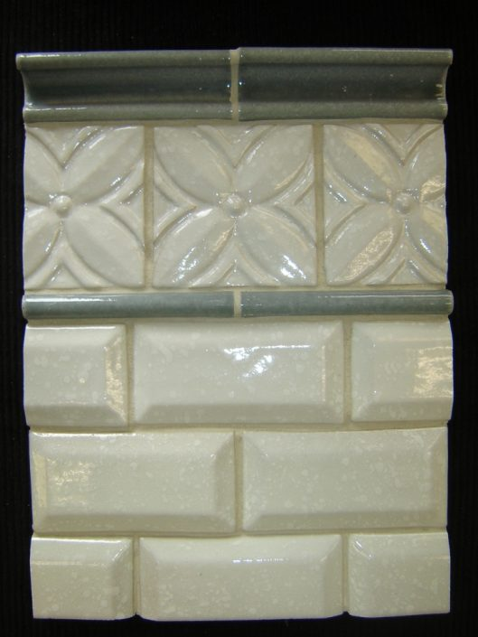 Beveled brick in Lace White
