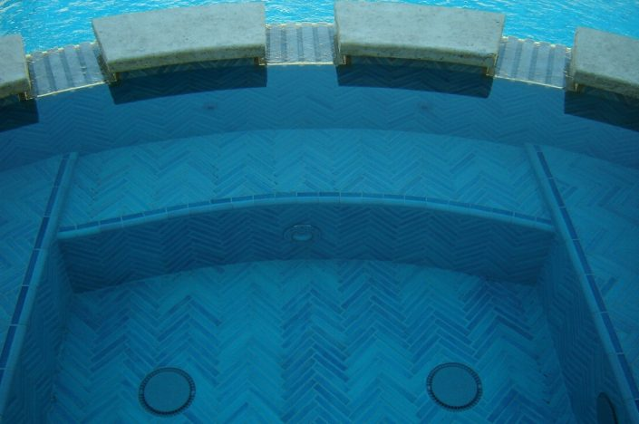 Herringbone Spa in Turquoise Blue (2)