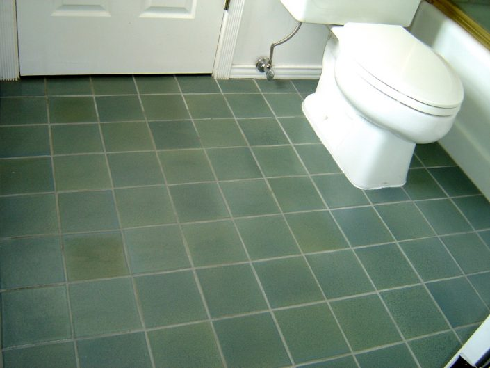Blue Sage bathroom floor