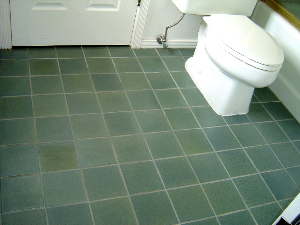 Blue Sage Bathroom Floor Busby