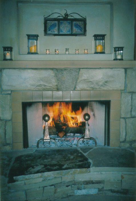 Sand Fireplace