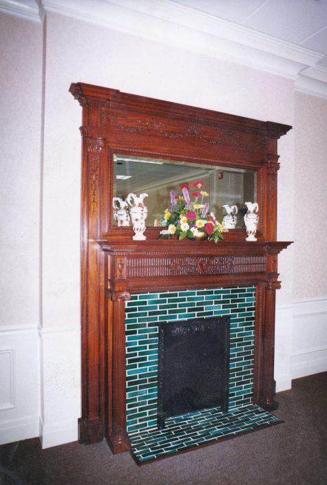 Fireplace 1 x 6 Forest Green & Jade Green